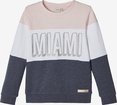 NAME IT Sweatshirt in nachtblau / puder / weiß, Produktansicht