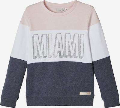 NAME IT Sweatshirt in nachtblau / puder / weiß, Produktansicht