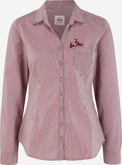SPIETH & WENSKY Dirndl bluza 'Pünktchen' u tamno crvena / bijela, Pregled proizvoda