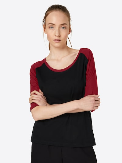 Urban Classics Shirt in rot / schwarz: Frontalansicht