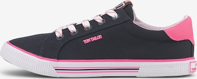 TOM TAILOR Shoes Stoffsneaker mit Neon-Details in blau, Produktansicht