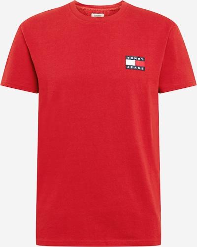 Tommy Jeans T-Shirt en bleu / lie de vin / blanc, Vue avec produit