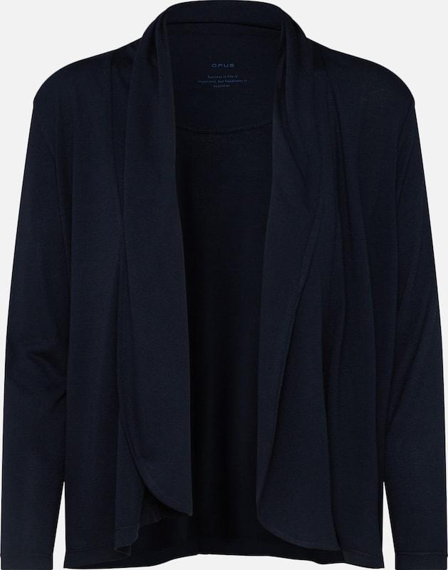 Opus Gebreid Ros' Vest In Donkerblauw 'sandrine j4ARL5
