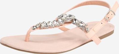 Flip-flops Hailys pe roz / argintiu, Vizualizare produs