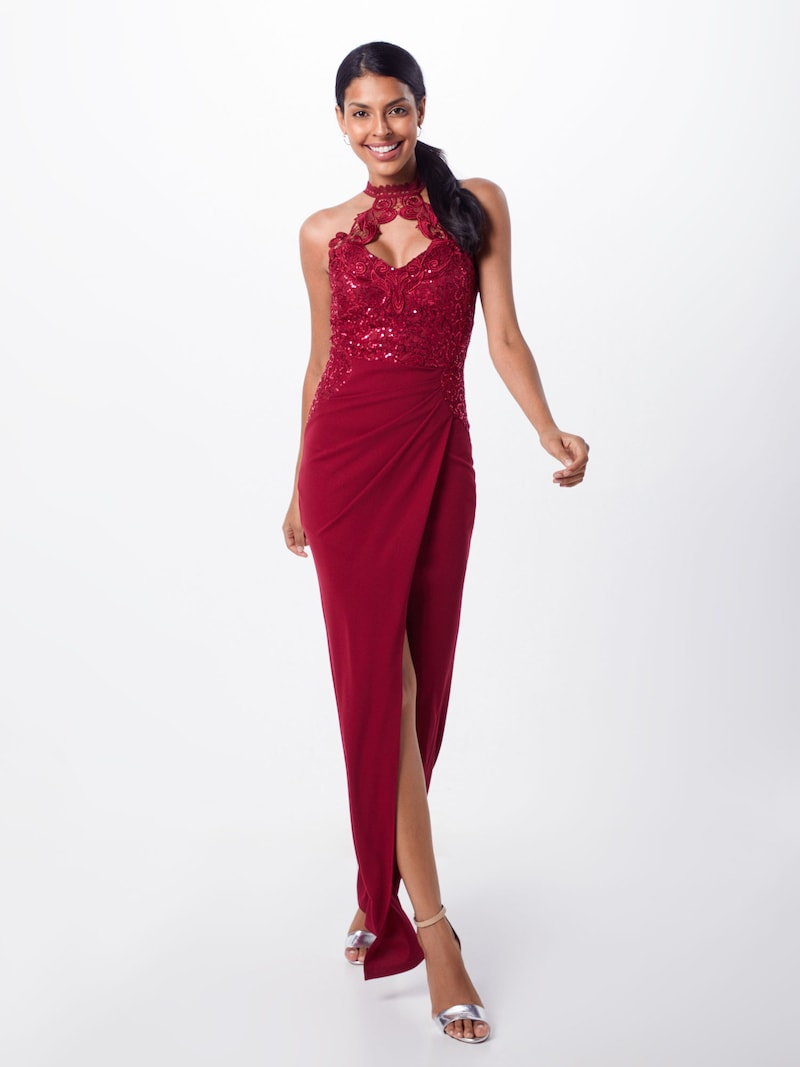 lipsy kleid 'ws red hltr sq wrp m' in cranberry | about