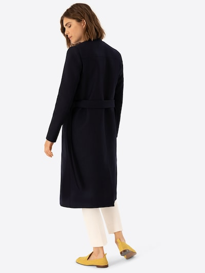 IVY & OAK Mantel 'Double Collar Coat' in navy: Rückansicht