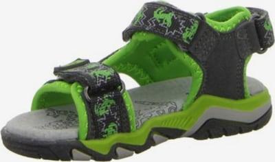 LURCHI Sandale 'Brian' in graphit / grün, Produktansicht