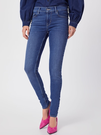 LEVI'S Jeans '710 INNOVATION SUPER SKINNY' in blue denim: Frontalansicht