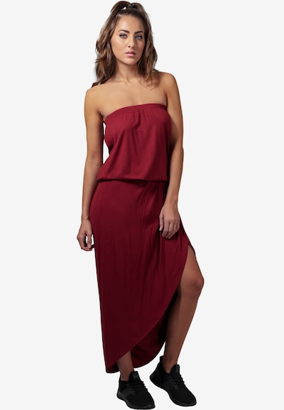 Urban Classics Kleid in burgunder, Modelansicht