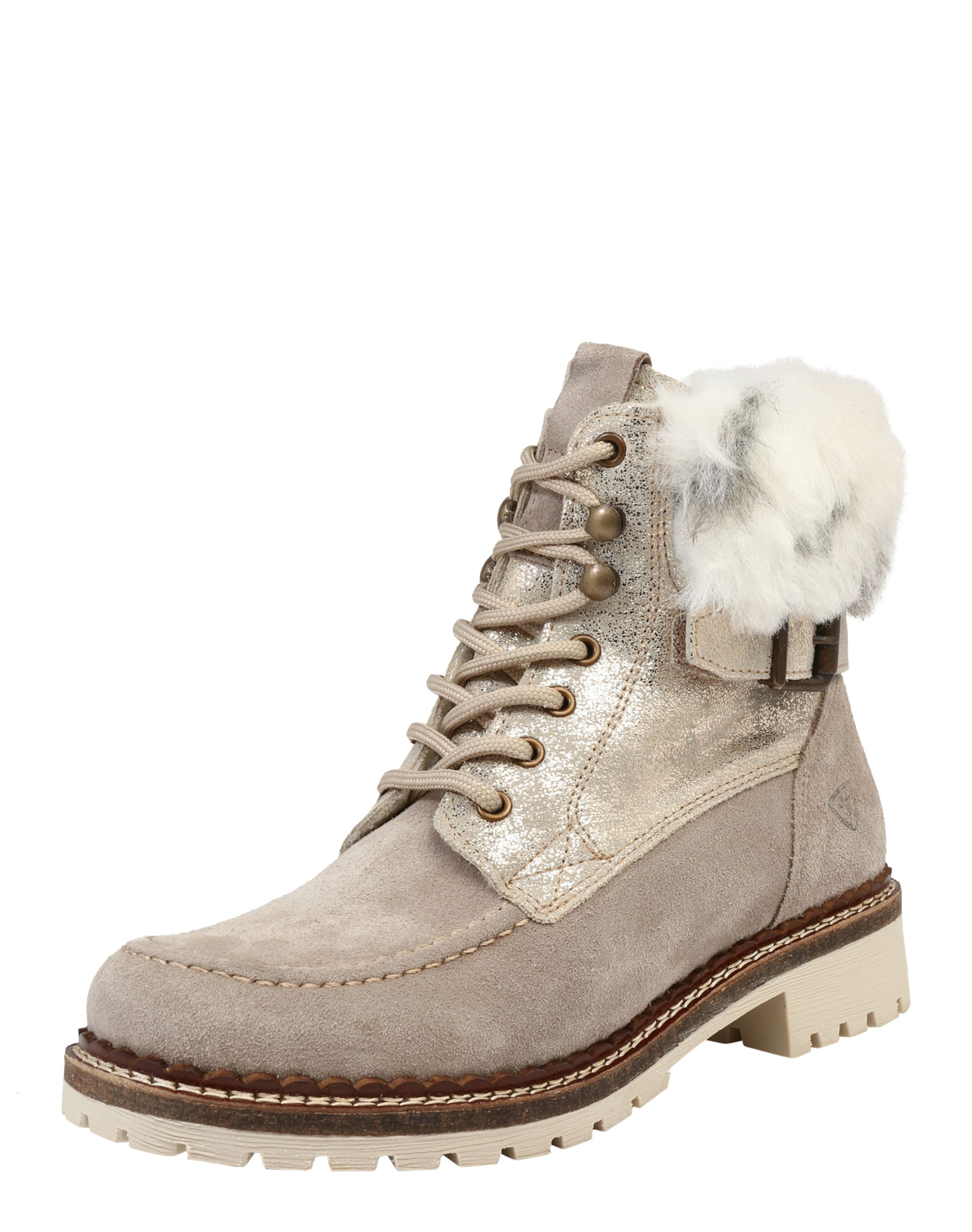 TAMARIS Schnürstiefelette aus Leder Verschleißfeste billige Schuhe