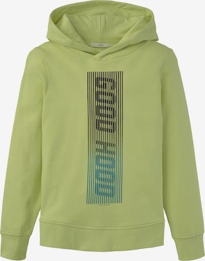TOM TAILOR Strick & Sweatshirts Hoodie mit Print in grün, Produktansicht