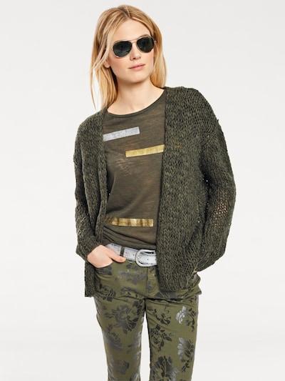 heine Grobstrickjacke in Grobstrick in khaki, Modelansicht
