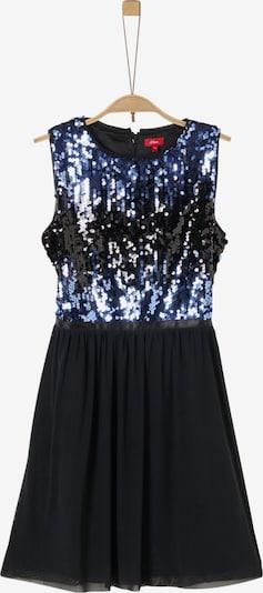 s.Oliver Junior Kleid in blau / schwarz: Frontalansicht