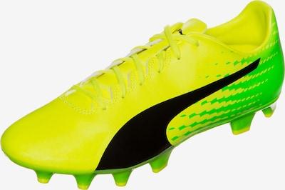 PUMA Fußballschuh 'EvoSpeed 17.4 FG' in neongelb / neongrün / schwarz, Produktansicht