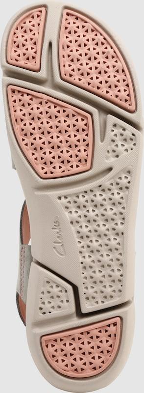 CLARKS | Sandalen 'Tri clover' aus Leder und Textil