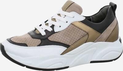 Kennel & Schmenger Sneakers in dunkelbeige / gold / schwarz / weiß, Produktansicht