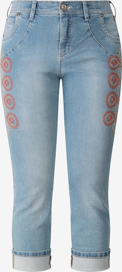 Recover Pants Jeans in hellblau / gelb / rot, Produktansicht