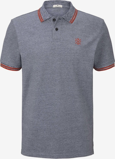 TOM TAILOR Shirt in taubenblau / rot, Produktansicht