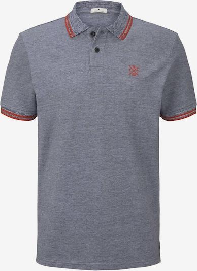 TOM TAILOR Shirt in taubenblau / rot: Frontalansicht