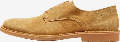 SELECTED HOMME Halbschuhe 'SLHROYCE DERBY LIGHT SUEDE SHOE W' in sand, Produktansicht