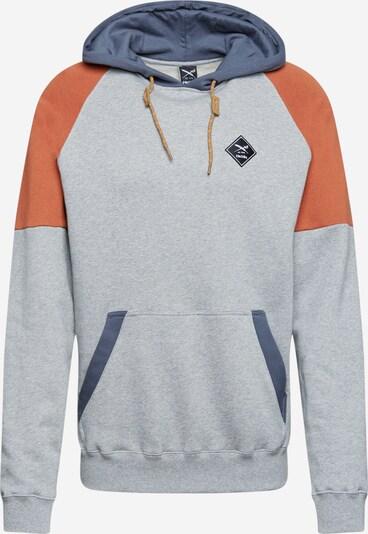 Iriedaily Sweater majica u golublje plava / siva melange / tamno narančasta, Pregled proizvoda