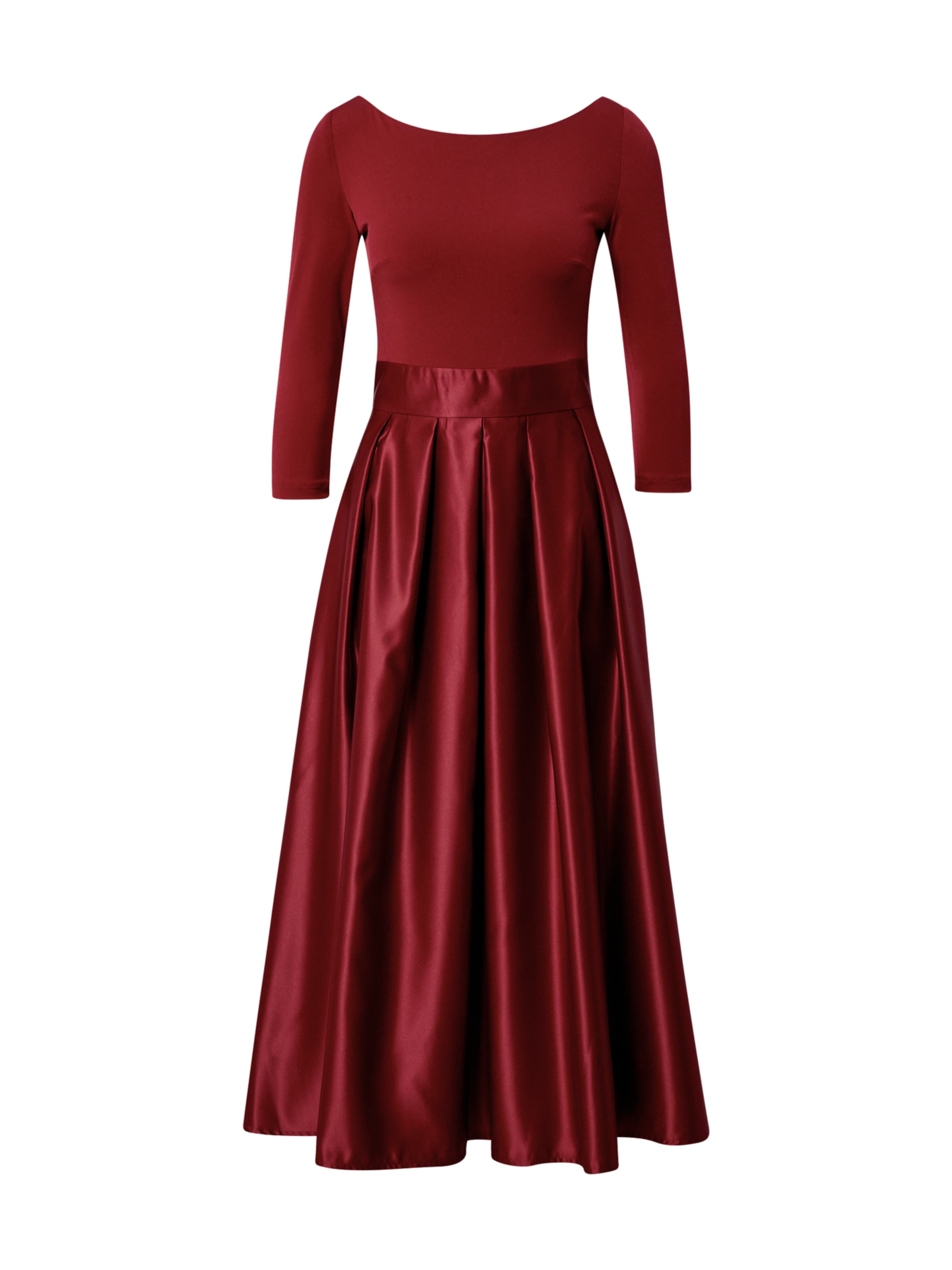 SWING Aftonklänning i vinröd