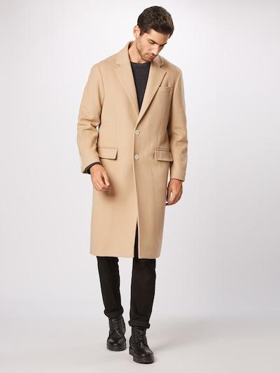 TOMMY HILFIGER Mantel 'LEWIS HAMILTON WOOL COAT LONG' in beige, Modelansicht