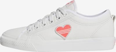 ADIDAS ORIGINALS Sneaker 'NIZZA TREFOIL' in pink / weiß: Frontalansicht
