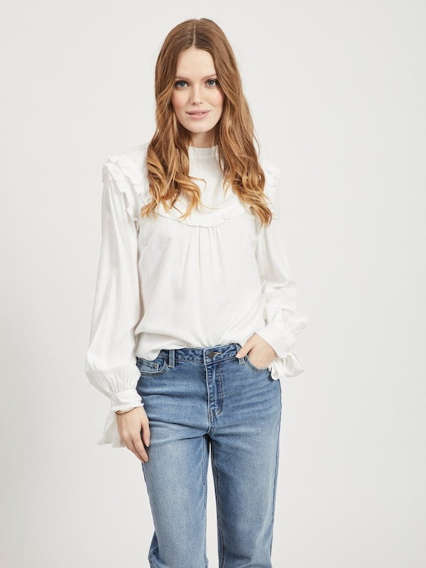 OBJECT Blouse in de kleur Wit, Modelweergave