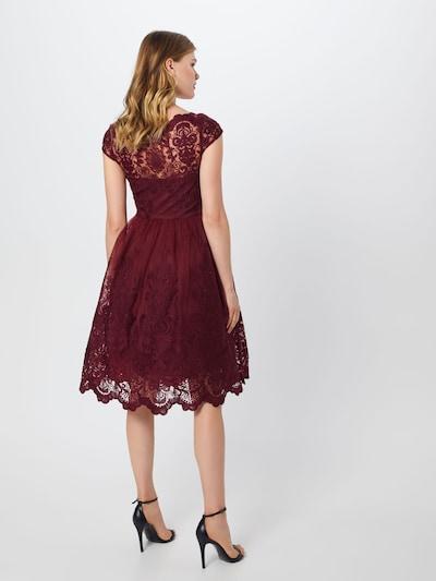 Chi Chi London Kleid 'Jimima Dress' in bordeaux: Rückansicht