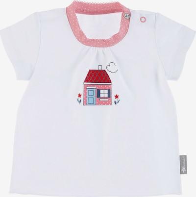 STERNTALER Shirt 'Haus' in rosa / rot / weiß, Produktansicht