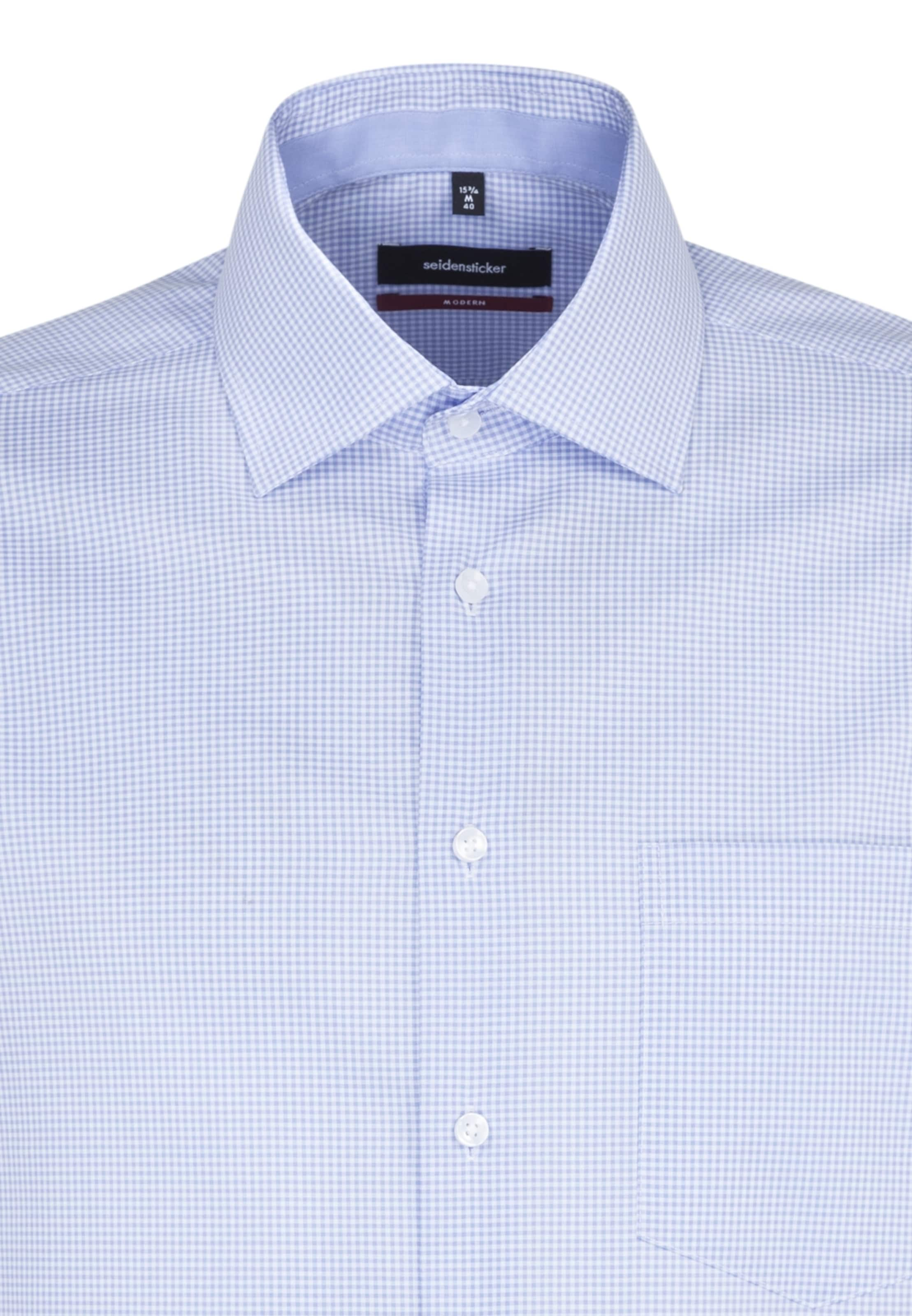 Chemise 'modern' Bleu FuméBlanc Seidensticker En Business 5q3LcRj4AS