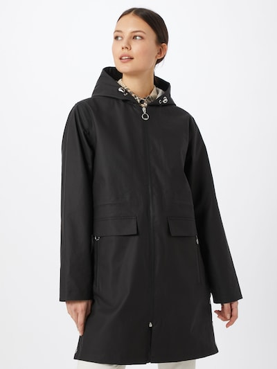 Superdry Regenmatel in schwarz, Modelansicht