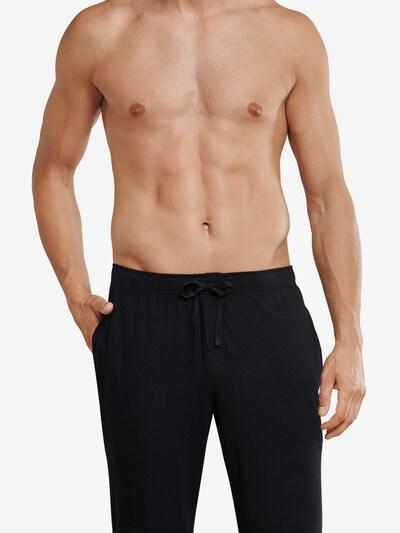 SCHIESSER Loungehose Mix & Relax in schwarz, Modelansicht