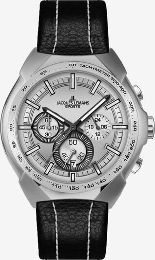Jacques Lemans Chronograph in schwarz / silber, Produktansicht