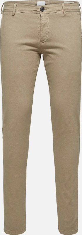 SELECTED HOMME Chino 'One Luca Phantom' in de kleur Greige, Productweergave
