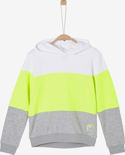 s.Oliver Sweatshirt in neongelb / grau / weiß, Produktansicht