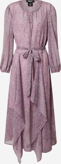 DKNY Jurk 'PRINTED L/S VNECK MAXI DRESS' in de kleur Zwart / Wit, Productweergave