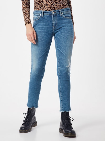 7 for all mankind Jeans 'PYPER CROP LUXE VINTAGE CAPITOLA' in blue denim: Frontalansicht