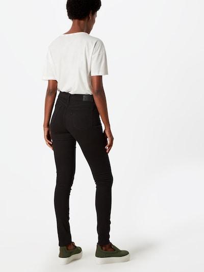 LEVI'S Jeansy '711' w kolorze czarny denimm: Widok od tyłu