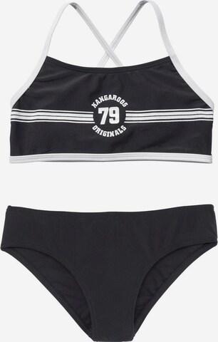KangaROOS Bikini 'Sporty' in Schwarz