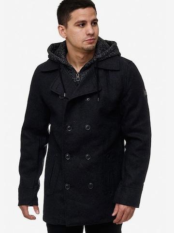 Manteau d'hiver 'Cliff' INDICODE JEANS en noir