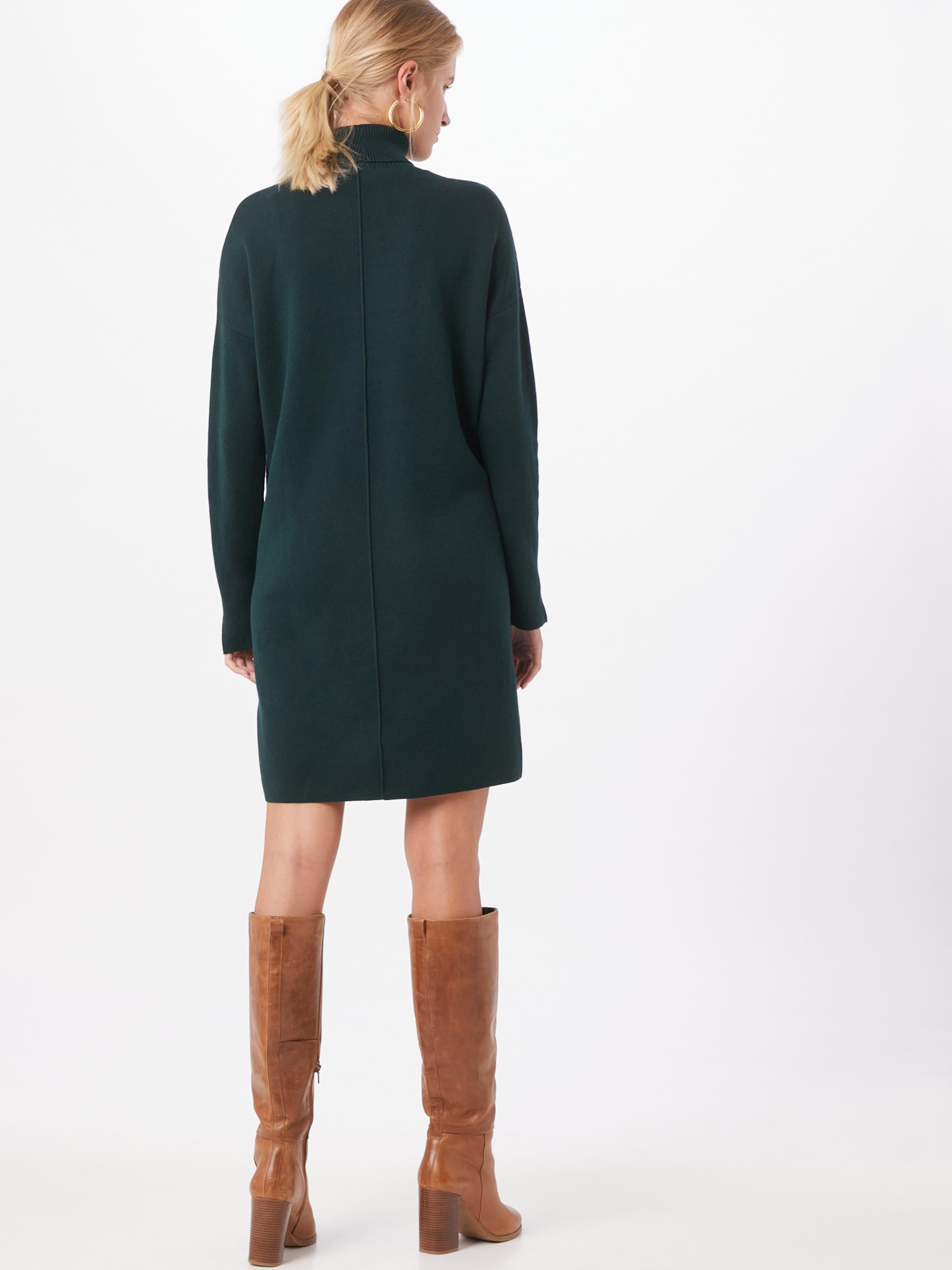 ARMEDANGELS Stickad klänning i mörkgrön