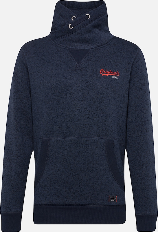 JACK & JONES Sweatshirt in dunkelblau, Produktansicht