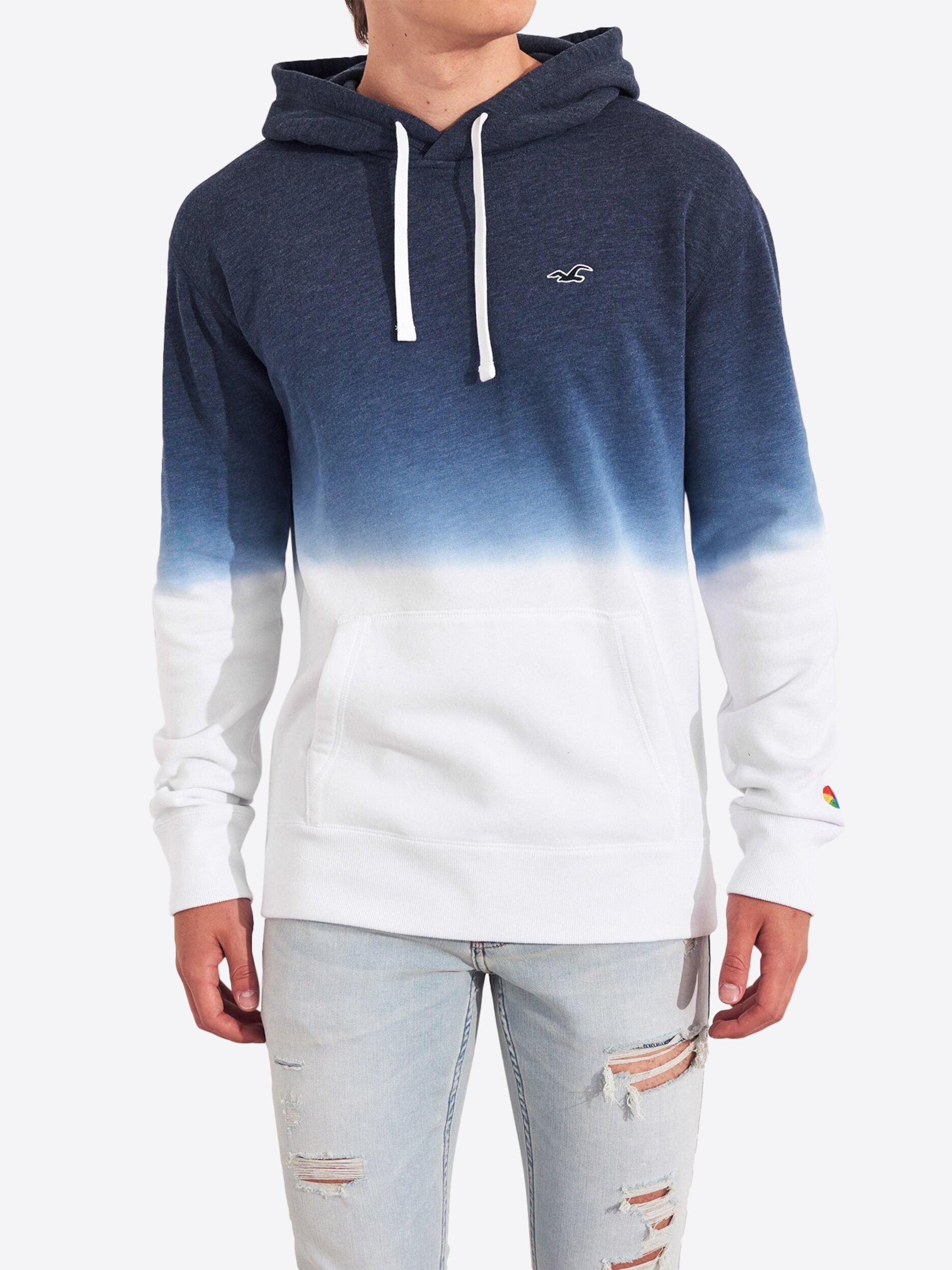shirt Bleu En Sweat Marine Hollister PZOXuTki