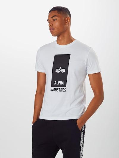 ALPHA INDUSTRIES T-Shirt en blanc, Vue avec modèle