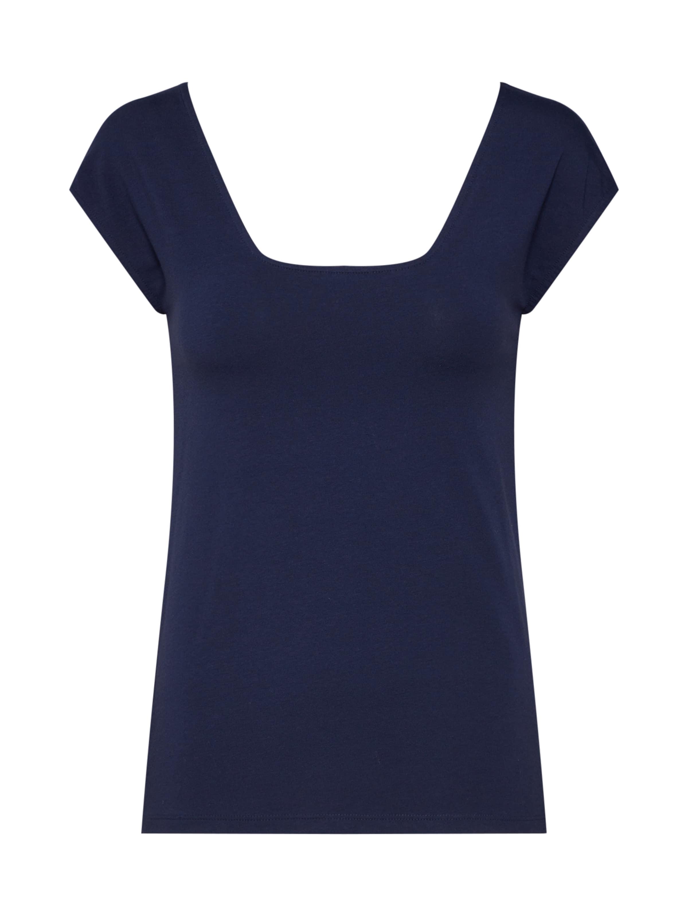 By Esprit Neck' En Marine 'square Edc T shirt Bleu 67gbfYyv
