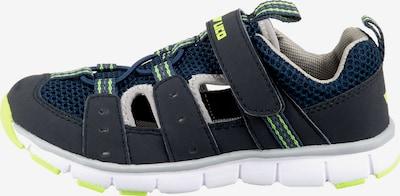 LICO Chaussures ouvertes 'Matti VS' en bleu / bleu foncé / jaune fluo, Vue avec produit