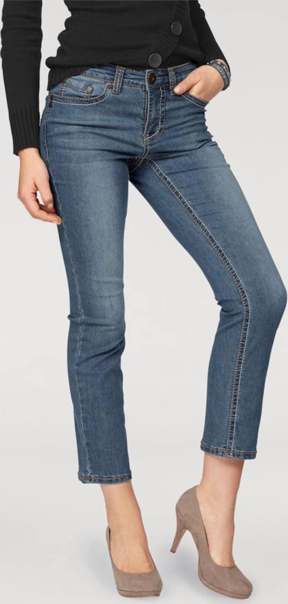 arizona jeans 39 mit kontrastn hten 39 in blauw about you. Black Bedroom Furniture Sets. Home Design Ideas