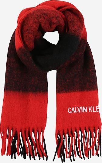 Calvin Klein Jeans Schal 'BUFFALO CHECK' in rot / schwarz, Produktansicht